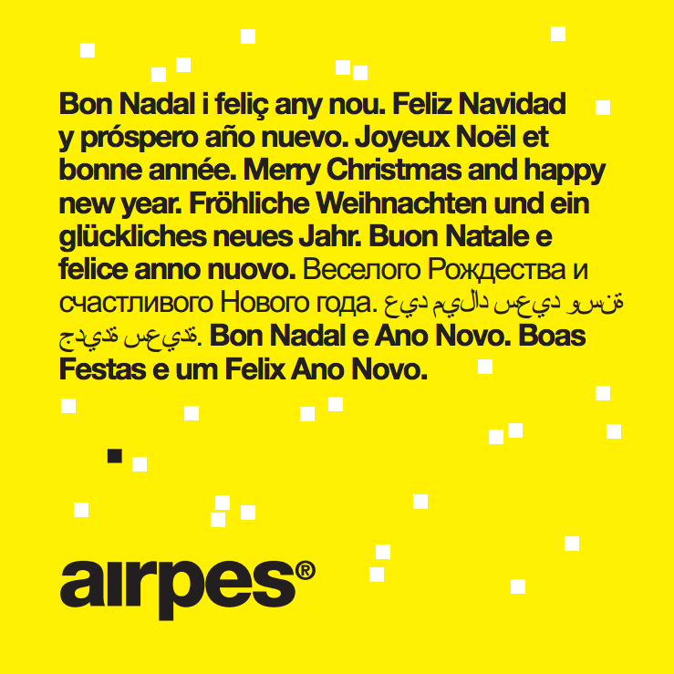 Merry Christmas and happy new year 2016 from Airpes