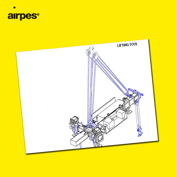 Hydraulic adjustable lifting beam | Handling | Airpes