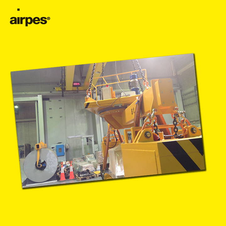Motorized lifting beam with magnets | Handling | Airpes