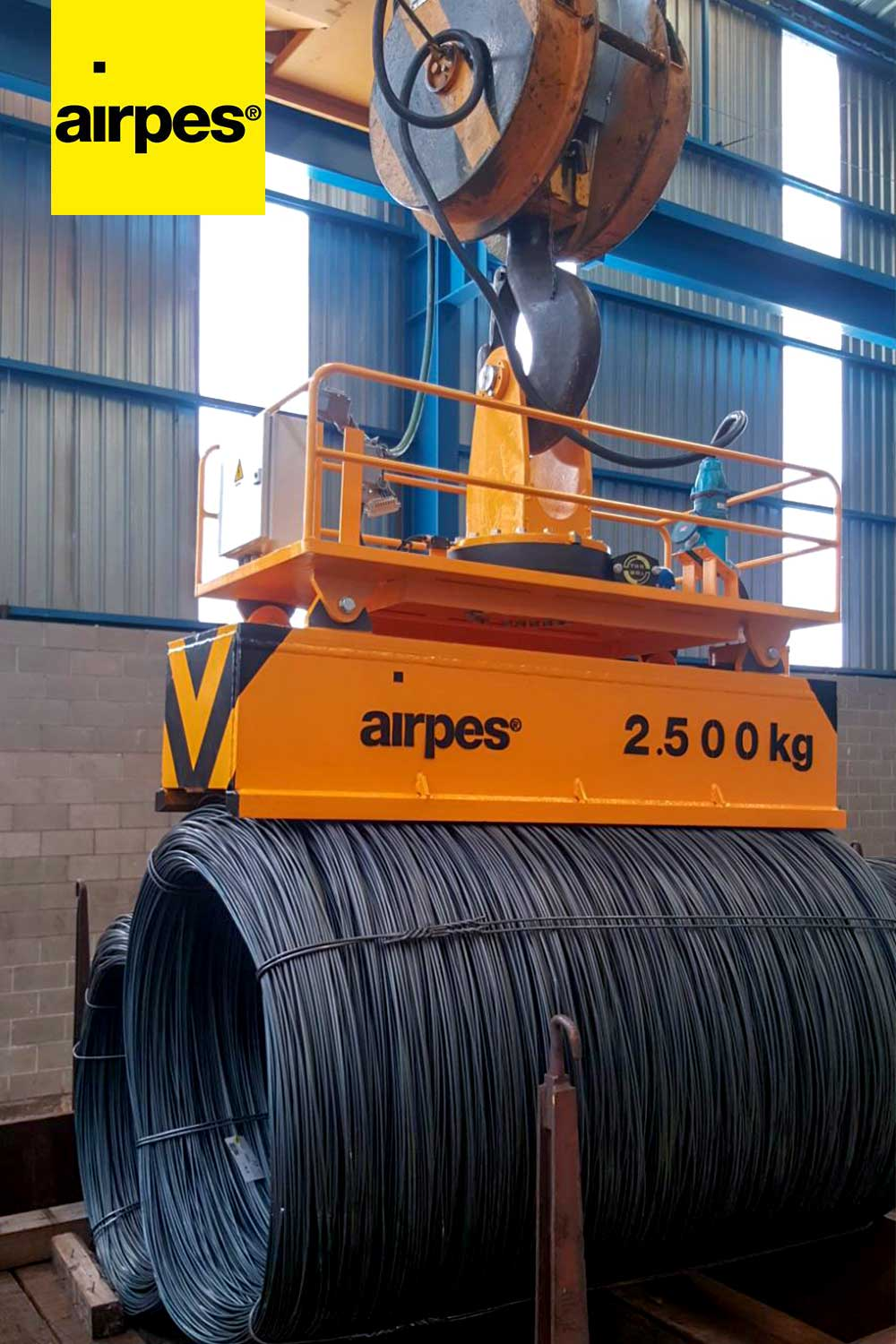 Rotating magnets lifting systems for Railsider Mediterráneo | Airpes