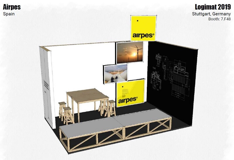 airpes booth at logimat