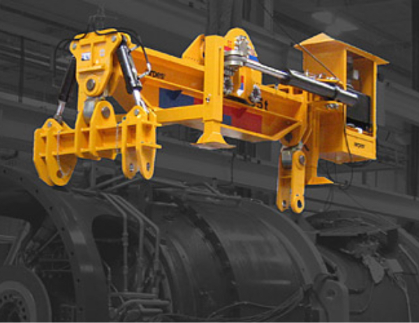 Drivetrain hydraulic lifting beam