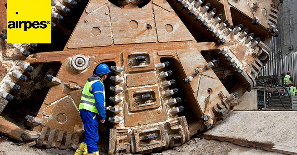 Tunnel Boring Machine for buid a tunnel - Airpes