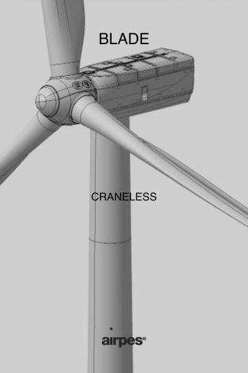 Sistema de intercambio de palas de rotor de turbinas eólicas sin grúa