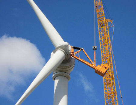 Wind energy industry - The best lifting equipment supplier - Airpes
