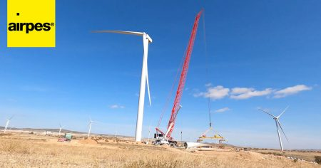 Installation of a wind turbine blade with a Blade Clamp: training and testing in-situ - Wind Energy - Airpes