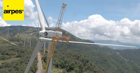 Integral solution for the installation and maintenance of wind turbine blades - Airpes